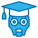 ai, artificial, education, intelligence, robot icon