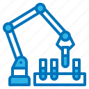 ai, arm, laboratory, robot, test icon