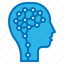 ai, artificial, human, intelligence, mind icon
