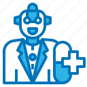 ai, artificial, intelligence, pharmacy, robot icon