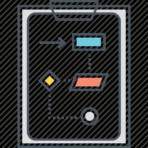 algorithm, flowchart, process, strategy icon