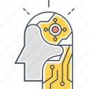 ai, artificial intelligence, bionic, robotic icon