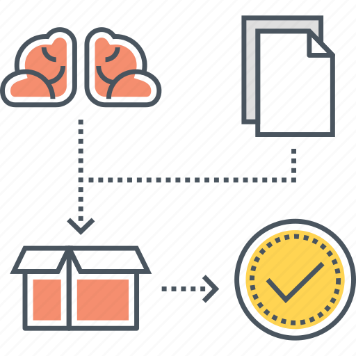 artificial intelligence, black box learning icon
