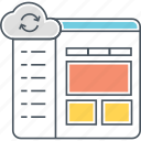 cloud control panel, cloud sync, control panel icon