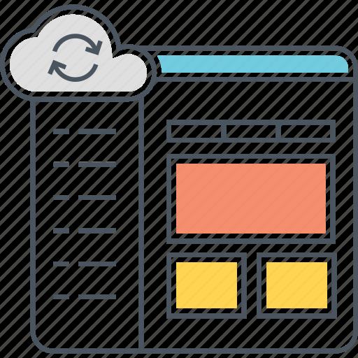 cloud control panel, cloud sync, control panel icon