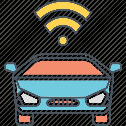 automated car, car, connected car, driverless, driverless car icon