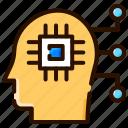 ai, artificial intelligence, computational intelligence, machine learning, smart system icon