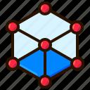 cube, hologram, technology, virtual reality, vr icon