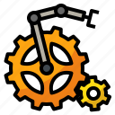 ai, artificial, automation, intelligence, settings icon