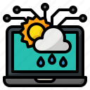 ai, artificial, forecasting, intelligence, weather icon