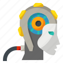 ai, android, artificial, intelligence, robot icon
