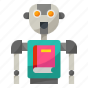ai, artificial, intelligence, library, robot icon