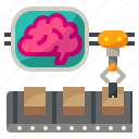 ai, artificial, factory, intelligence, manufacturing icon