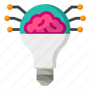 ai, artificial, intelligence, lighting, researching icon