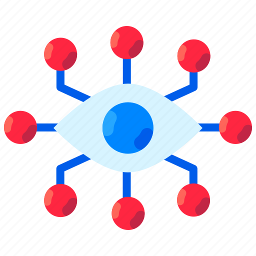 ai, artificial intelligence, eye, neural networks, virtual reality, vision icon