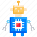 artificial intelligence, optimization, robot, robotics, science icon