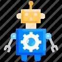 artificial intelligence, automation, optimization, robot, robotics, science icon