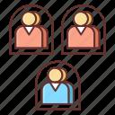 agent, multi, system icon