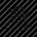 artificial, intelligence, ai, brain, hand