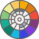 color wheel, colors, painting, palette icon