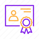 certificate, education, elearning, internet, learning, school, study icon
