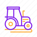 agriculture, farm, tractor, transportation, vehicle icon