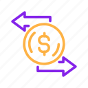 banking, business, currency, exchange, finance, financial, money icon