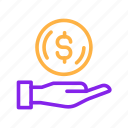 banking, business, currency, finance, financial, loan, money, payment icon