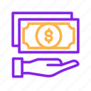 bank, business, dollar, finance, financial, loan, money, payment icon
