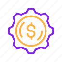 business, currency, dollar, finance, financial, making, money, payment icon