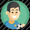 avatar, boy, football, man, soccer, sport icon