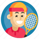 avatar, boy, man, sport, tennis icon