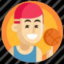 avatar, basketball, boy, man, sport icon