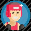 avatar, boxing, boy, man, sport icon