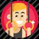 athletics, avatar, boy, gymnast, man, sport icon