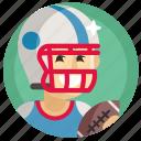 american football, avatar, boy, man, rugby, sport icon