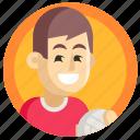 avatar, boy, man, sport, volleyball icon