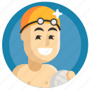 avatar, boy, man, sport, water polo icon