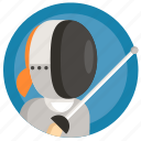 avatar, fencing, girl, sport, woman icon