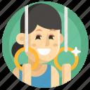 athletics, avatar, girl, gymnast, sport, woman icon