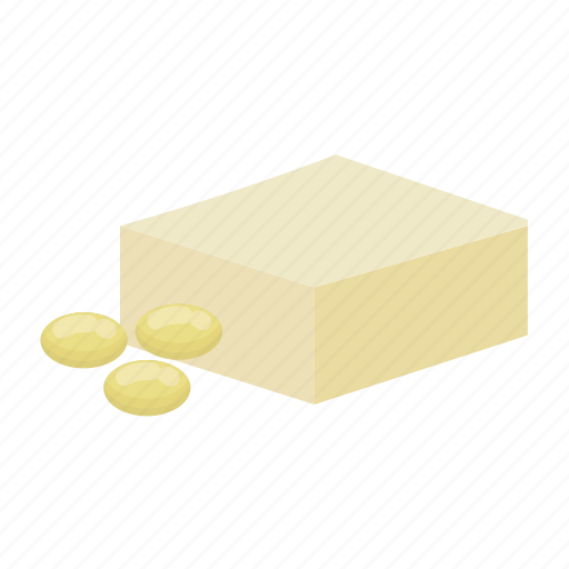 cheese, soy, soy cheese, soybean, soybeans, tofu, with icon
