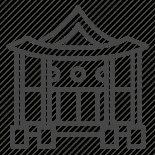 asian, home, house, korean, property icon
