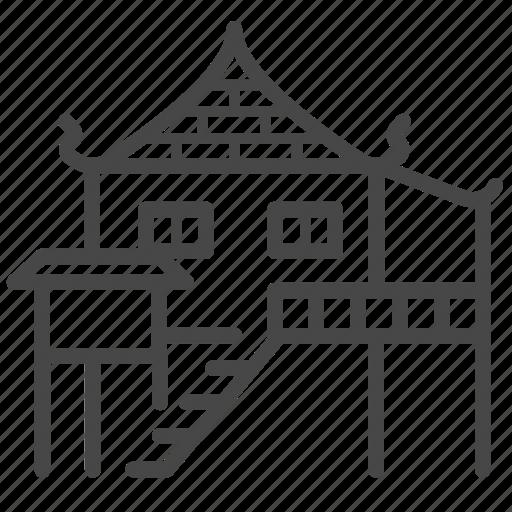 asian, home, house, property, thai icon