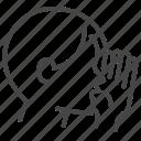 asmr, relax, relieve, secret, whisper, whispering icon