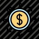 cash, economic, finance, fund, income distribution, money icon