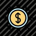 cash, economic, finance, fund, income, money icon