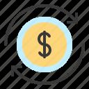 business, cash, economy, finance, fund, revolving fund, working fund icon