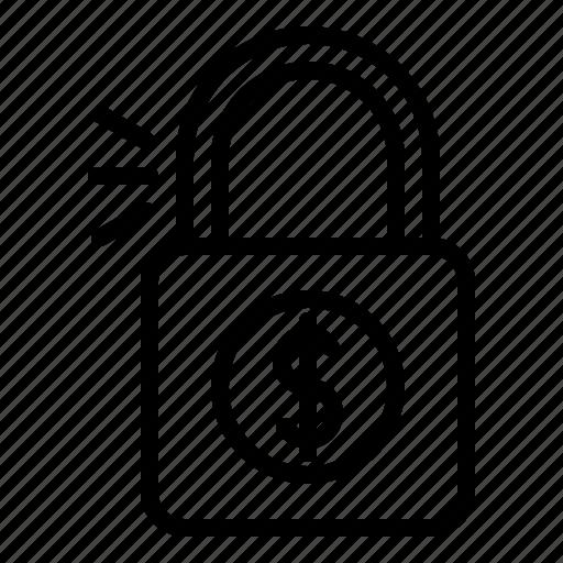 business, lock, locked, padlock, safe, secure icon