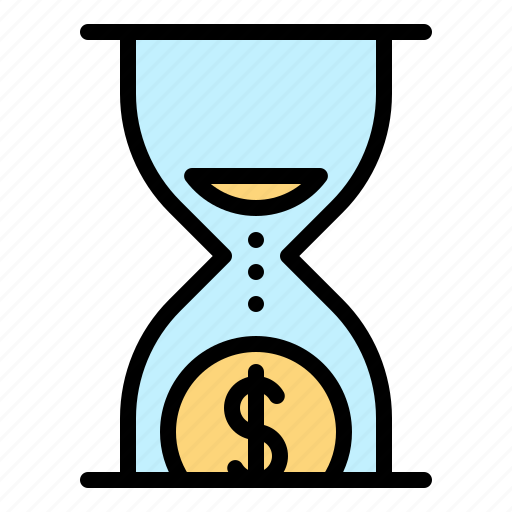 chance, clock, financial, hourglass, time icon