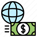 cash, currency, exchange, financial, global, money, transfer icon